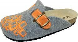 Bio Wool - grau/orange